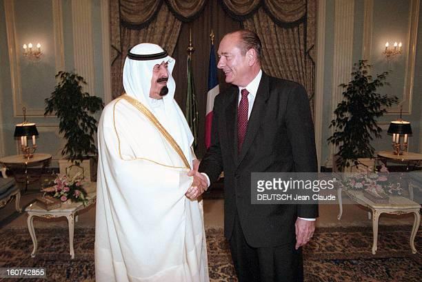 Jacques Chirac Trip In Saudi Arabia En Arabie Saoudite en juillet 1996 Jacques CHIRAC en visite officielle à Riyad rencontrant le prince ABDULLAH...