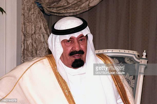 Jacques Chirac Trip In Saudi Arabia En Arabie Saoudite en juillet 1996 Portrait du prince ABDULLAH lors de la visite du président français à Riyad