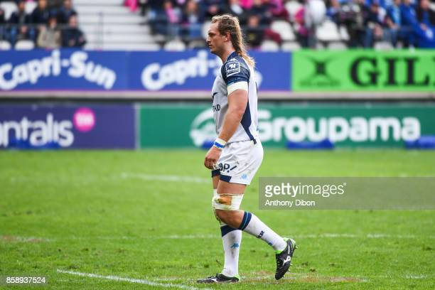 Jacques Du Plessis of Montpellier during the Top 14 match between Stade Francais and Montpellier on October 7 2017 in Paris France
