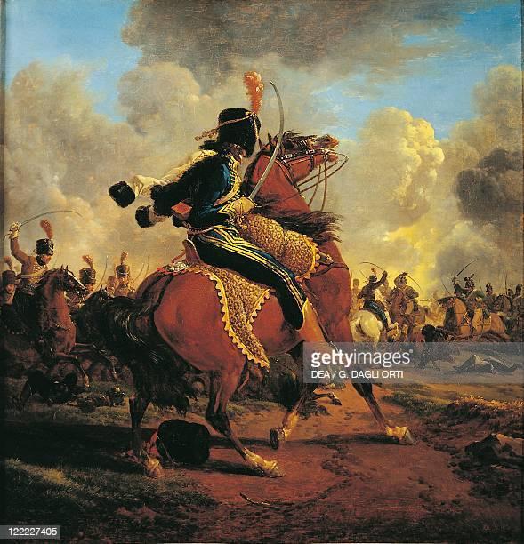 Jacques Francois Joseph Swebach Charging French Hussar