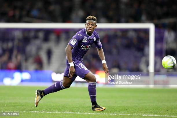 Jacques Francois Moubandje of Toulouse during the Ligue 1 match between Toulouse and Amiens SC at Stadium Municipal on October 14 2017 in Toulouse