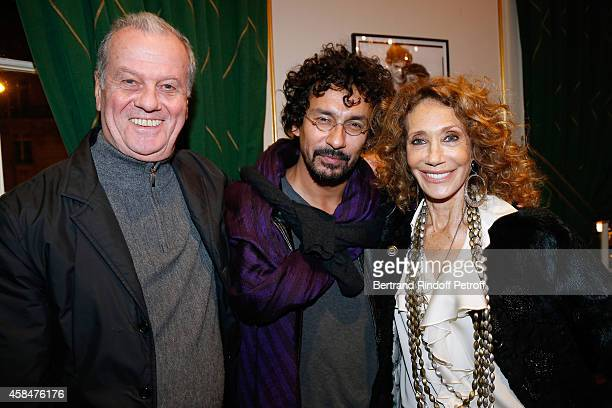 Jacques Grange Fashion designer Haider Ackermann and Marisa Berenson the 'Loulou de la Falaise' book signing Held at the Fondation 'Pierre Berge Yves...