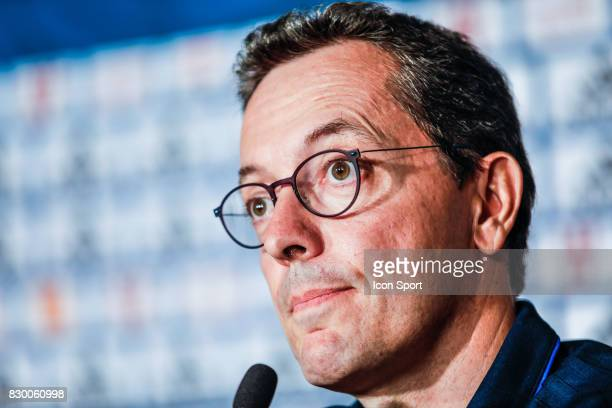 Jacques Henri Eyraud president of Marseille during press conference of Olympique de Marseille on August 10 2017 in Marseille France