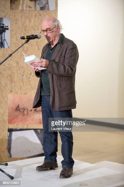 Jacques Henric reads 'Tombeau pour Cinq Cent Mille Soldats' for 50th anniversary of the book at Azzedine Alaia Gallery on October 19 2017 in Paris...
