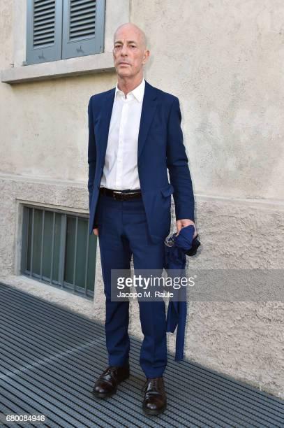 Jacques Herzog attends a 'Private view of 'TV 70 Francesco Vezzoli Guarda La Rai' at Fondazione Prada on May 7 2017 in Milan Italy