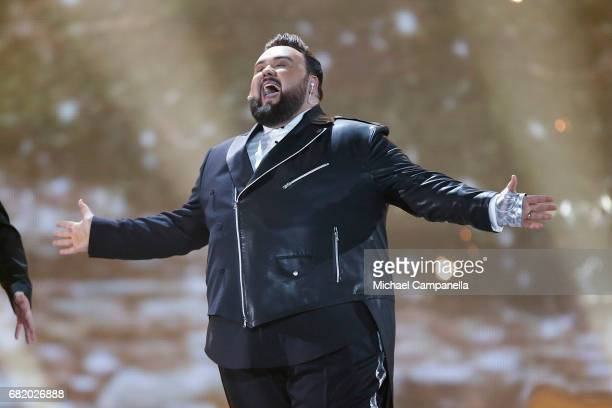 Jacques Houdek representing Croatia performs the song 'My Friend' during the second semi final of the 62nd Eurovision Song Contest at International...
