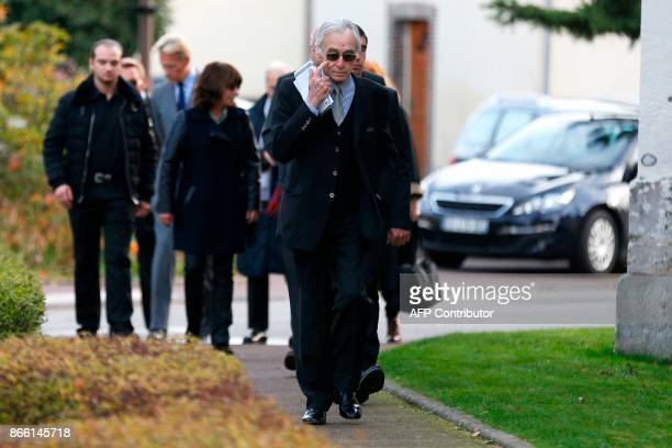 Jacques Jenvrin the companion of the late French actress Danielle Darrieux arrives to attend the funeral service of the French actress Danielle...
