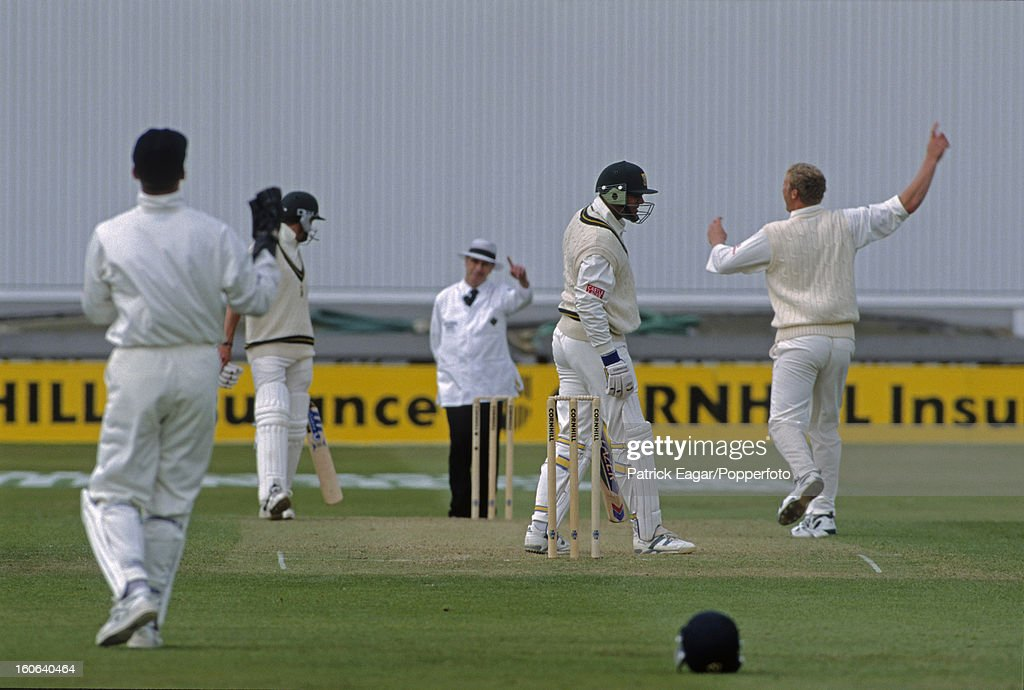 Jacques Kallis is caught by Alec Stewart off Andrew Flintoff 4th Test England v South Africa at Trent Bridge 1998
