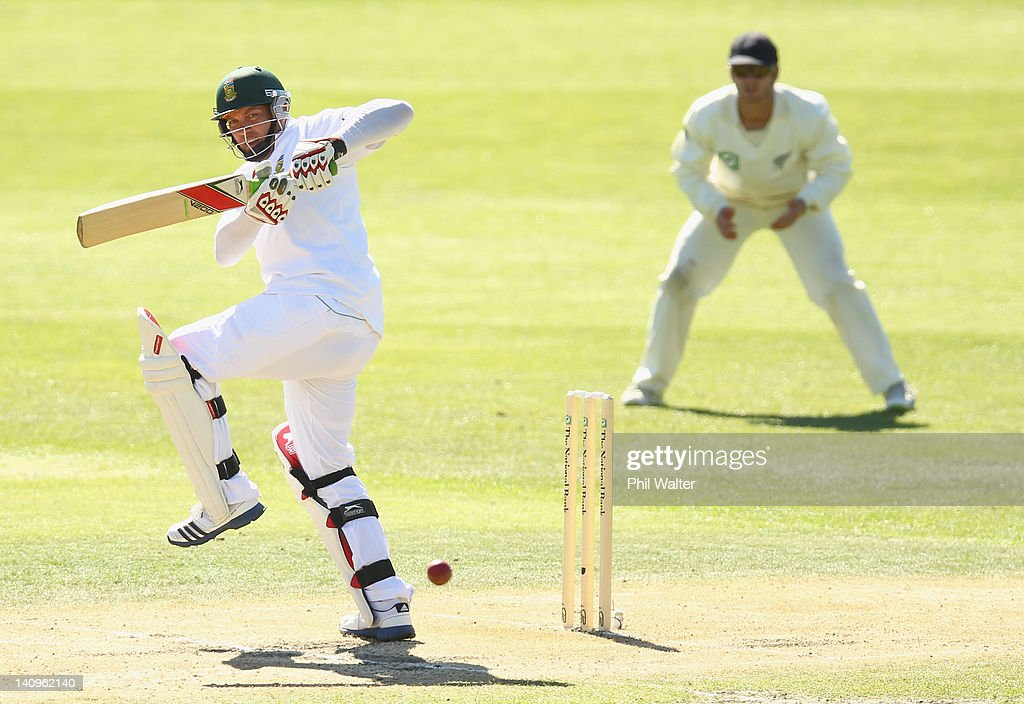 Jacques Kallis of South Africa bats during day three of the First Test match between New Zealand and South Africa at the University Oval on March 09, 2012 in Dunedin, New Zealand.