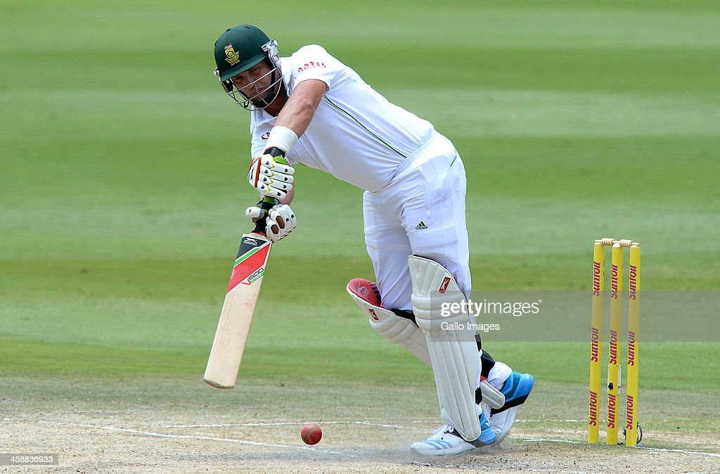 <a gi-track='captionPersonalityLinkClicked' href=/galleries/search?phrase=Jacques+Kallis&family=editorial&specificpeople=184509 ng-click='$event.stopPropagation()'>Jacques Kallis</a> of South Africa drives square for a boundary during day 5 of the 1st Test match between South Africa and India at Bidvest Wanderers Stadium on December 22, 2013 in Johannesburg, South Africa.