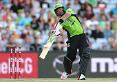 Jacques Kallis of the Thunder bats during the Big Bash League match between the Sydney Thunder and Brisbane Heat at ANZ Stadium on December 21 2014...