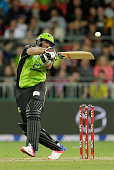 Jacques Kallis of the Thunder bats during the Big Bash League match between the Sydney Thunder and Adelaide Strikers at Spotless Stadium on December...