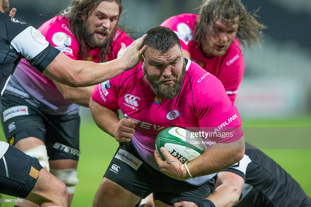 Jacques Kotze of the Steval Pumas during the Currie Cup match between Steval Pumas and Cell C Sharks XV at Mbombela Stadium on August 05 2016 in...