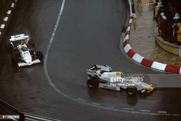 Jacques Laffite Ayrton Senna Grand Prix of Monaco Monaco 03 June 1984