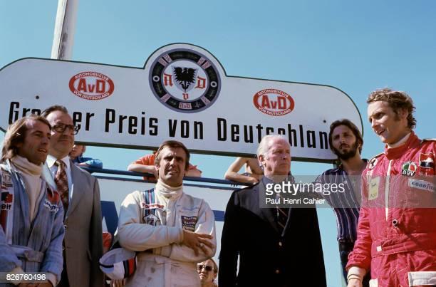 Jacques Laffite Carlos Reutemann Prince Meternich Niki Lauda Grand Prix of Germany Nurburgring 03 August 1975