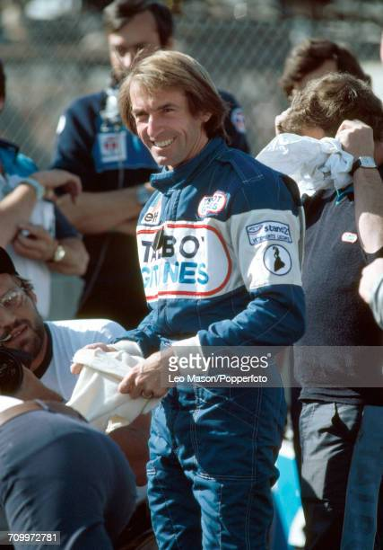 Jacques Laffite of France pictured during the 1981 Caesars Palace Grand Prix in Las Vegas where he finished sixth driving a Ligier JS17 with a Matra...