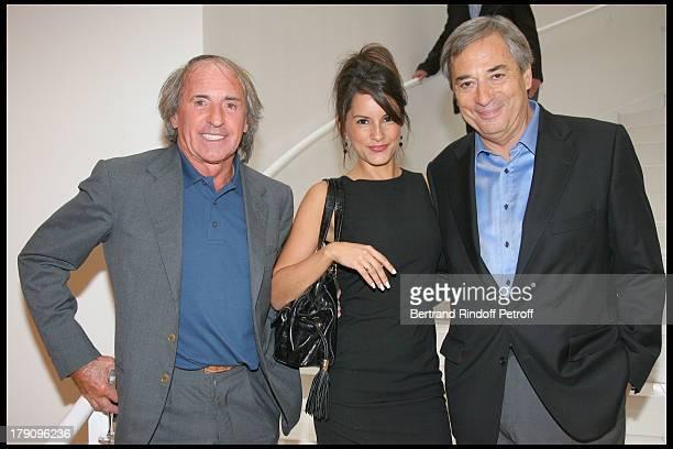 Jacques Laffitte Marion Jolles and Jean Louis Moncet at Press Conference For 'On Se Retrouve Sur TF1'