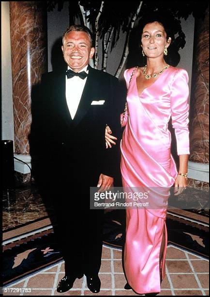 Jacques Martin and his wife Cecilia during a gala at the Deauville casino