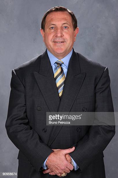 Jacques Martin of Montreal Canadians poses for his official headshot for 20092010 NHL season