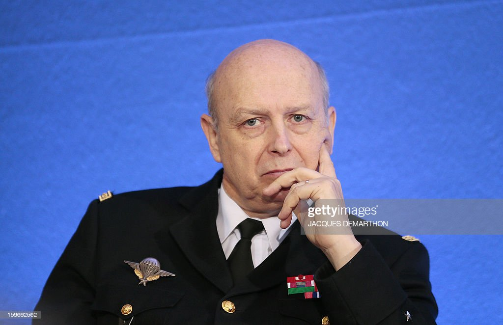 Jacques Mignaux, general director of the gendarmerie nationale attends the presentation of the report of the past year and the prospects of the security policy for the upcoming yearon January 18, 2013 at the ministry in Paris.