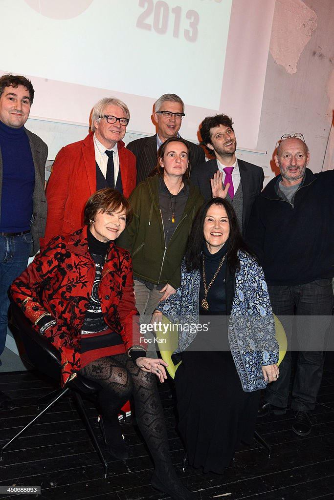 Jacques Nerson, Baptiste Liger, Patrice Carmouze, Bernard Lehut, Antoine BuenoÊand Pierre Vavasseur (L-R1st rank) <a gi-track='captionPersonalityLinkClicked' href=/galleries/search?phrase=Macha+Meril&family=editorial&specificpeople=672802 ng-click='$event.stopPropagation()'>Macha Meril</a>, Prix du Style 2013 Celine Minard for her book 'Failli Etre Flingue' and Irene Frain attend the 'Prix Du Style 2013' Literary Award At Palais de Tokyo on November 19, 2013 in Paris, France.