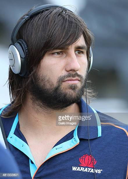 Jacques Potgieter of the Waratahs during the Super Rugby match between Cell C Sharks and Waratahs at Growthpoint Kings Park on March 29 2014 in...