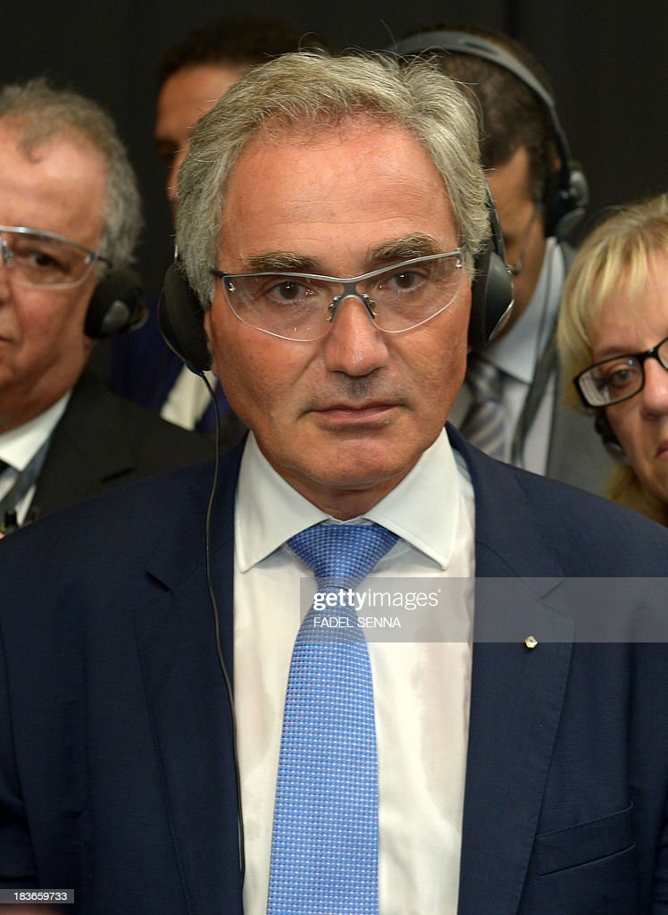 Jacques Prost, General Director of the Renault group in Morocco, attends the opening ceremony of the inauguration of the second phase of the Renault factory in Tangier on October 8, 2013. This second unit, which will oversee the production of the Dacio Sandero car, will allow the french manufacturer to double its production, to reach 340,000 vehicles per year in 2014, which will make Renault Tangier 'the biggest factory' of its type in Africa, according to its managers.