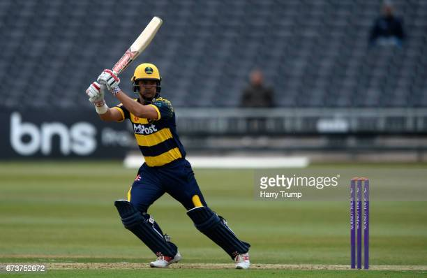 Jacques Rudolph of Glamorgan bats during the Royal London OneDay Cup between Gloucestershire and Glamorgan at The Brightside Ground on April 27 2017...