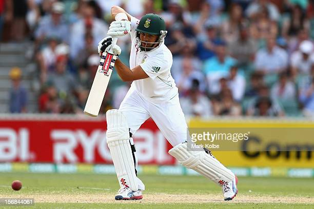 Jacques Rudolph of South Africa bats during day two of the Second Test match between Australia and South Africa at Adelaide Oval on November 23 2012...