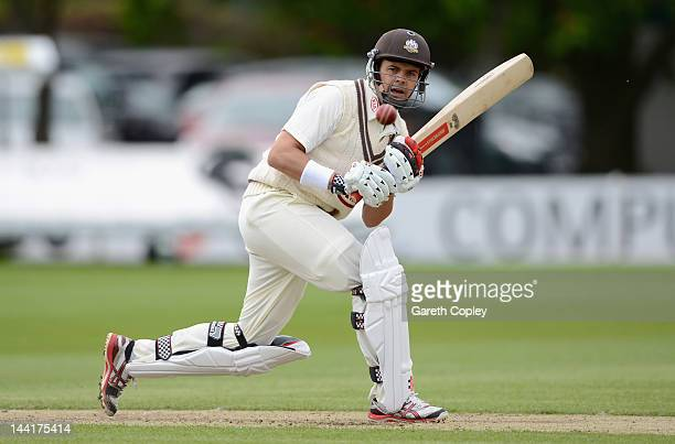 Jacques Rudolph of Surrey bats during day three of the LV County Championship Division One match between Worcestershire and Surrey at New Road on May...