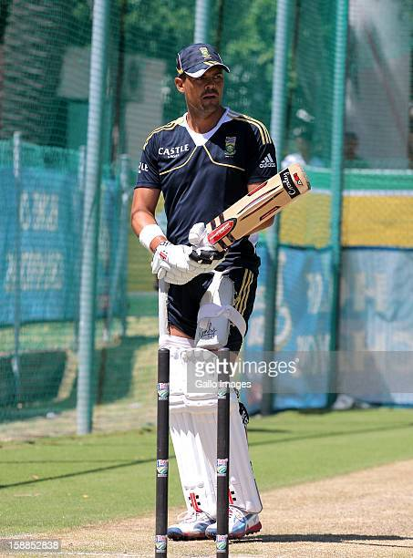 Jacques Rudolph of the Proteas during the South Africa nets session at Sahara Park Newlands on January 01 2013 in Cape Town South Africa