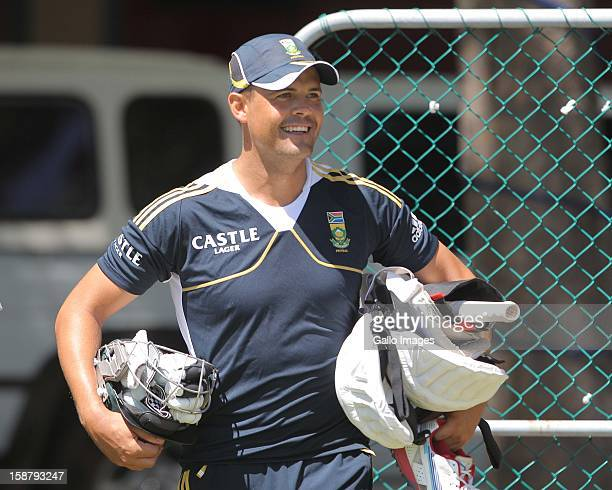 Jacques Rudolph of the Proteas in action during the South Africa nets session at Sahara Park Newlands on December 29 2012 in Cape Town South Africa