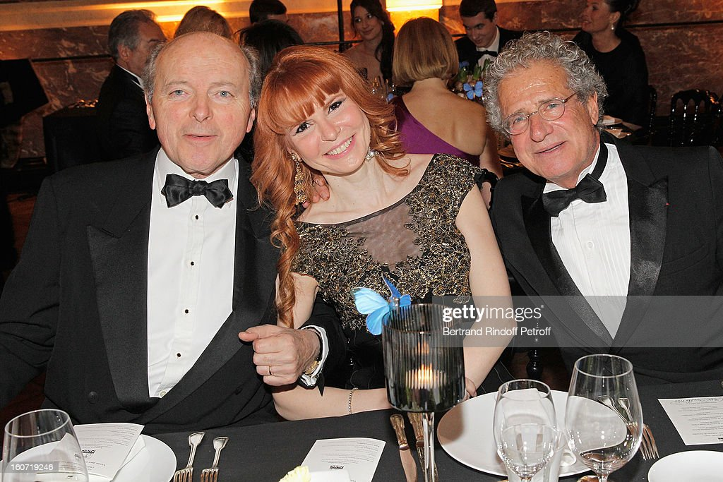 Jacques Toubon, Anouchka Weiss and Laurent Dassault attend the gala dinner of Khayat's association 'AVEC', at Chateau de Versailles on February 4, 2013 in Versailles, France.
