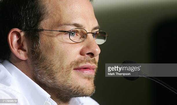 Jacques Villeneuve of Canada and BMW Sauber attends at the press conference during the preparations for the Canadian Formula One Grand Prix at the...