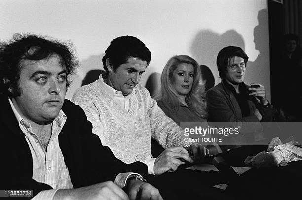 Jacques Villeret Catherine Deneuve and Jacques Dutronc played in the movie 'A Nous Deux' by Claude Lelouch at Cannes Film Festival in 1979