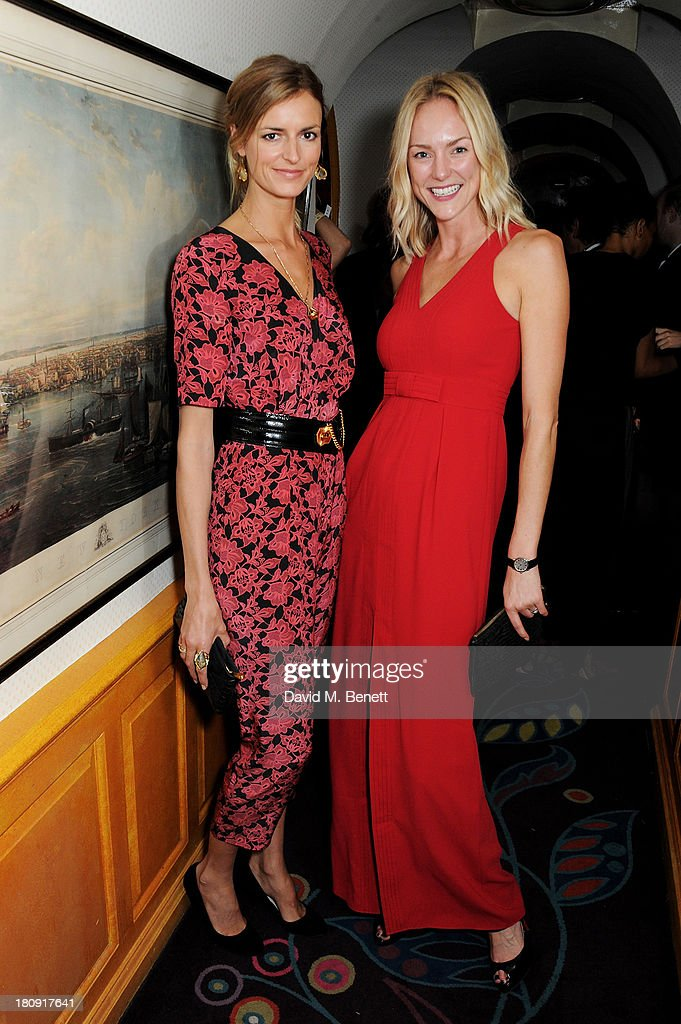 Jacquetta Wheeler (L) attends the Harper's Bazaar London Fashion Week SS14 closing party at Annabel's on September 17, 2013 in London, England.