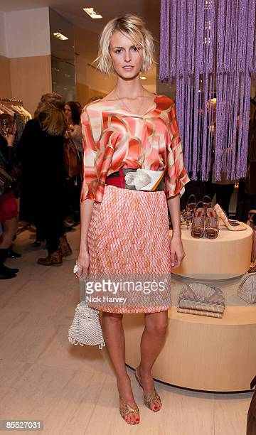 Jacquetta Wheeler attends the Missoni Cocktail Party on March 19 2009 in London England