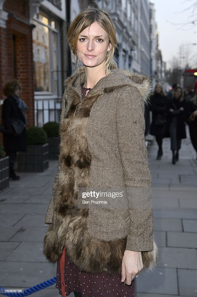 Jacquetta Wheeler attends the Smythson of Bond Street's afternoon tea party, celebrating the opening of their new Sloane Street store, on February 6, 2013 in London, England.