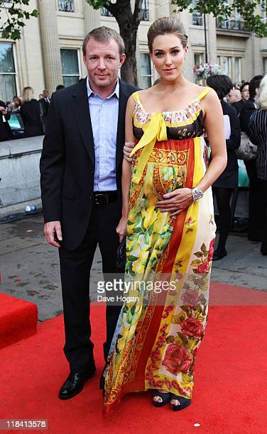 Jacqui Ainsley and Guy Richie attend the world premiere of Harry Potter and the Deathly Hallows Part 2 at Trafalgar Square on July 7 2011 in London...