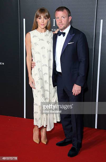 Jacqui Ainsley and Guy Ritchie attend the BFI Luminous Funraising Gala at The Guildhall on October 6 2015 in London England