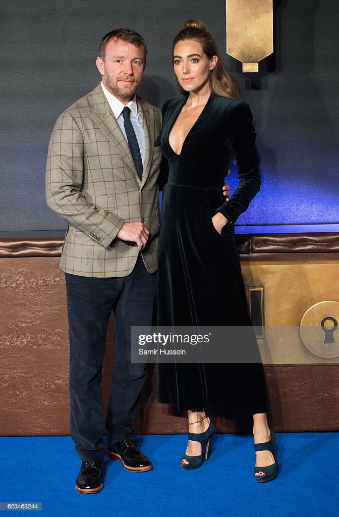Jacqui Ainsley and Guy Ritchie attend the European premiere of 'Fantastic Beasts And Where To Find Them' at Odeon Leicester Square on November 15, 2016 in London, England.
