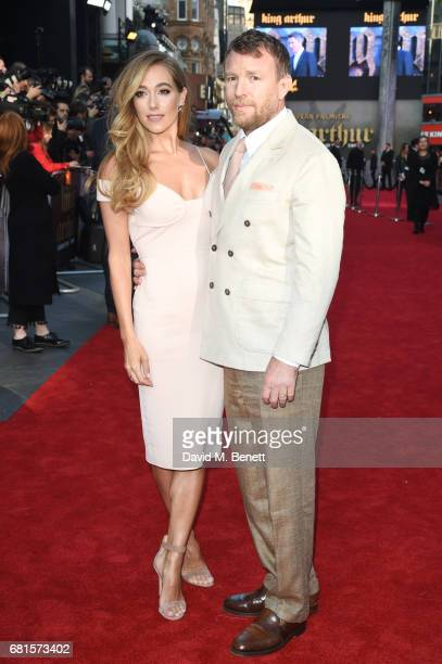 Jacqui Ainsley and Guy Ritchie attend the European Premiere of 'King Arthur Legend of the Sword' at Cineworld Empire on May 10 2017 in London United...