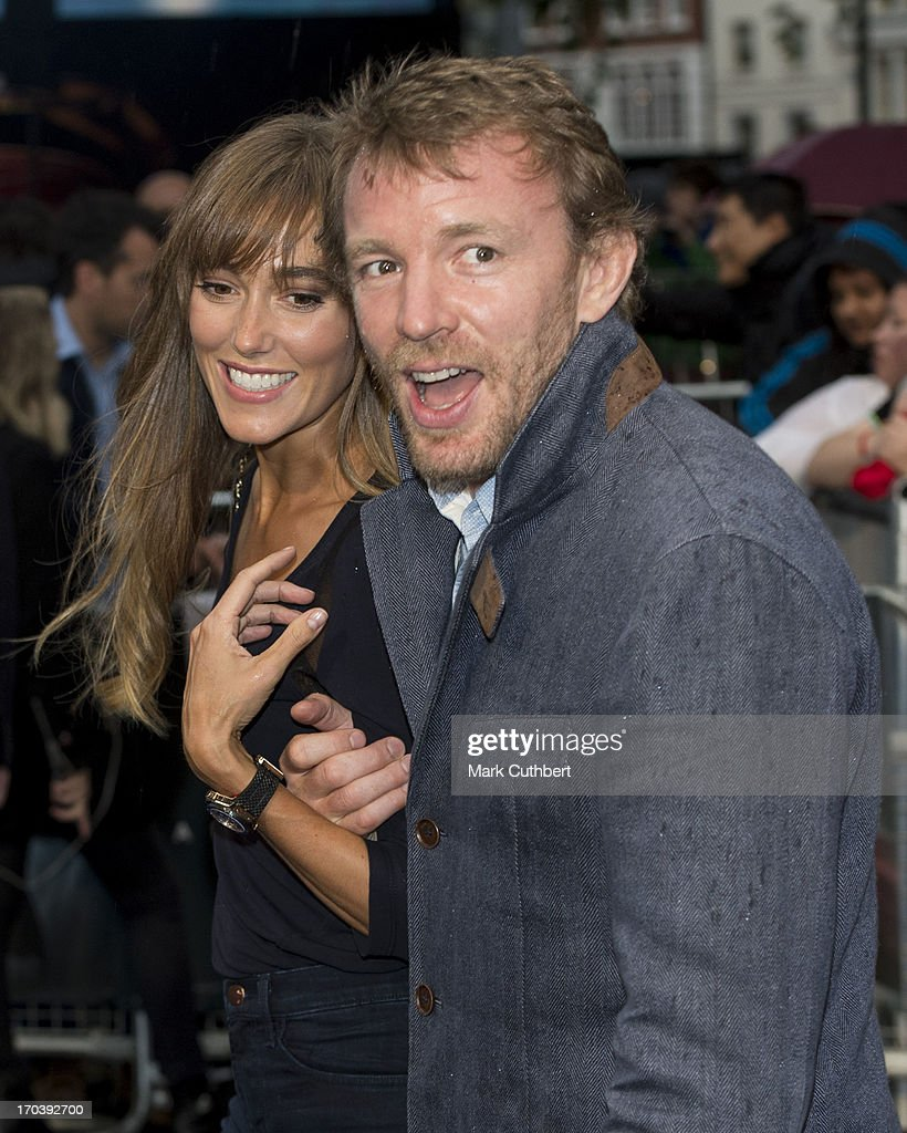 Jacqui Ainsley and Guy Ritchie attend the UK Premiere of 'Man of Steel' at Odeon Leicester Square on June 12, 2013 in London, England.