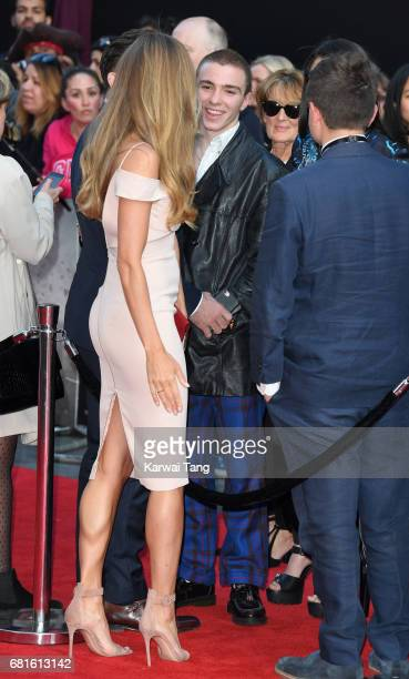 Jacqui Ainsley and Rocco Ritchie attend the European premiere of 'King Arthur Legend of the Sword' at Cineworld Empire on May 10 2017 in London...