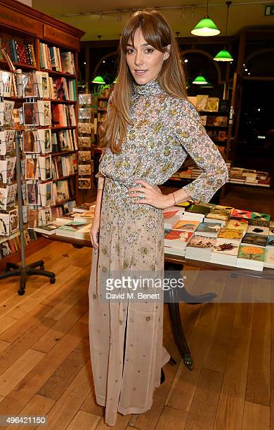 Jacqui Ainsley attends the launch of AA Gill's new book 'Pour Me A Life' at Daunt Books on November 9 2015 in London England