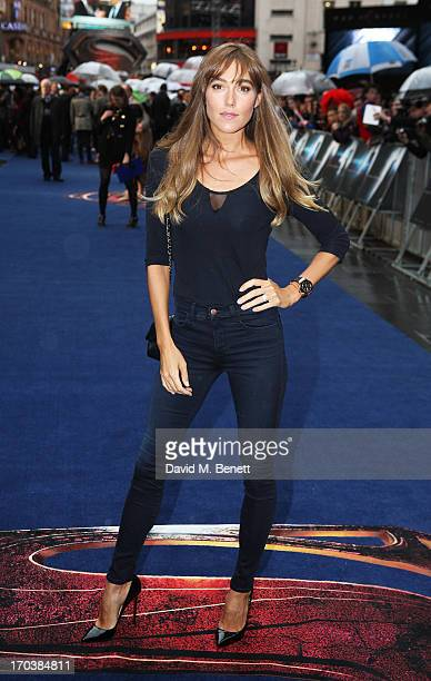 Jacqui Ainsley attends the UK Premiere of 'Man of Steel' at Odeon Leicester Square on June 12 2013 in London England