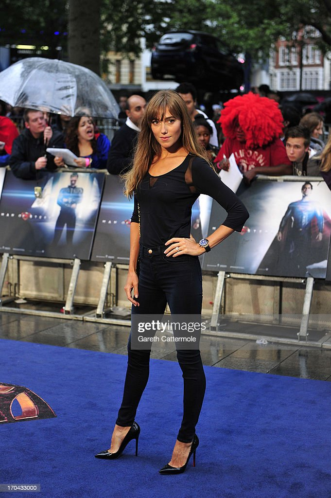 Jacqui Ainsley attends the UK Premiere of 'Man of Steel' at Odeon Leicester Square on June 12, 2013 in London, England.