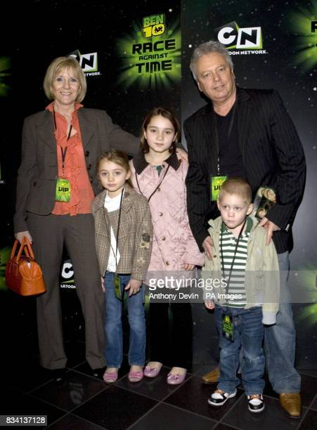 Jacqui and Tony Adams and grandchildren arrive for the premiere of 'Ben 10 Race Against Time' at the Vue in Leicester Square London