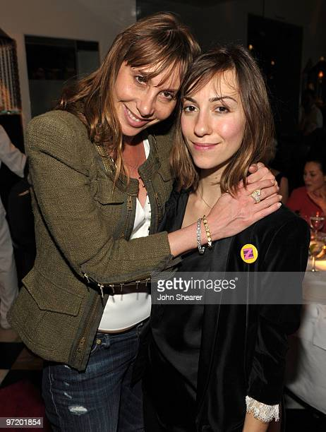BEVERLY HILLS CA FEBRUARY 27 Jacqui Getty and Gia Coppola at the launch of Z SPOKE by Zac Posen hosted by Saks Fifth Avenue at Mr Chow on February 27...
