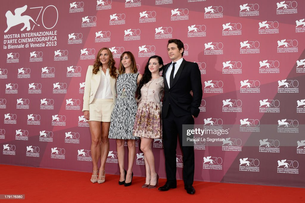 <a gi-track='captionPersonalityLinkClicked' href=/galleries/search?phrase=Jacqui+Getty&family=editorial&specificpeople=2092629 ng-click='$event.stopPropagation()'>Jacqui Getty</a>, director Gia Coppola, actress Claudia Levy and actor <a gi-track='captionPersonalityLinkClicked' href=/galleries/search?phrase=James+Franco&family=editorial&specificpeople=577480 ng-click='$event.stopPropagation()'>James Franco</a> attend the 'Palo Alto' Photocall during the 70th Venice International Film Festival at the Sala Grande on September 1, 2013 in Venice, Italy.